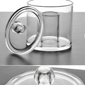 NEW Heavy Acrylic Cotton Ball/Swab Lidded Dish